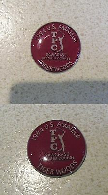 2 Only TIGER WOODS  GOLF BALL MARKERS A Tribute to his Win as 1994 U.S. AMATEUR