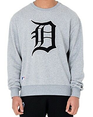 New Era Oversized Crewneck Sweater Detroit Tigers Post Grad Pack light grey