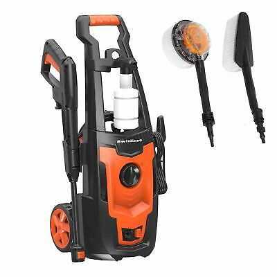 SwitZer Portable Electric Pressure Washer 1400W 1600PSI Power Jet Cleaner Kits