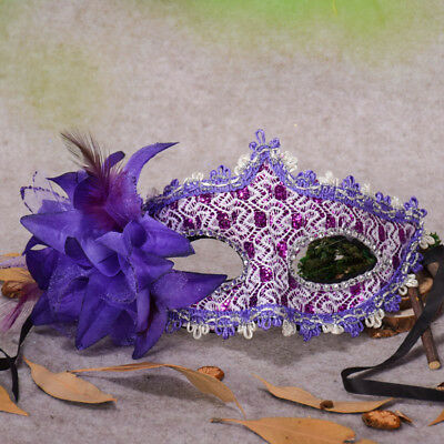 Mask Lace Party Carnival Fancy Dress Masquerade Ball Eye Masks Flower/&Feather