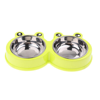 Pet Food Travel Double Bowls Water Container Feeding Dish for Doggy Puppy