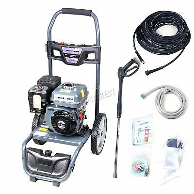 SwitZer Petrol Pressure Washer 6.5HP 2500PSI 4 Stroke 172 Bar 30M Hose Jet Grey