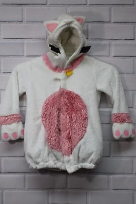Old Navy Toddler Halloween Costume Cat Kitten Size 2T/3T White Pink Kids