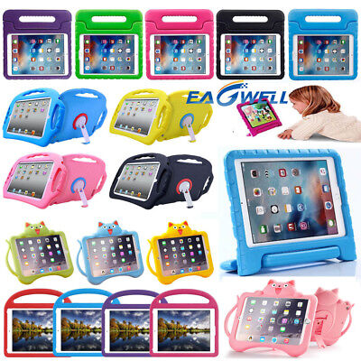 AU For iPad 6th Gen 2018 9.7-inch Kids Shockproof EVA/Silicone Handle Case Cover