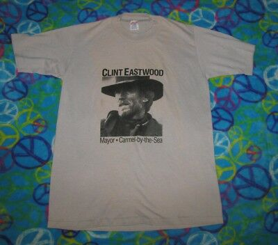 1987 Clint Eastwood Vintage Shirt Mayor Carmel-By-The-Sea M