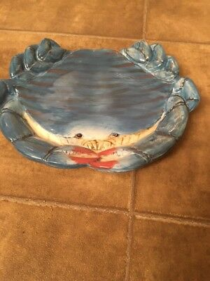 Certified International Blue Crab Kate Mcrostie Plate