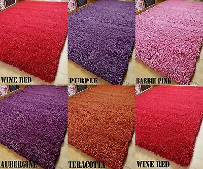 Luxurious Soft Living Room Shaggy Rug Non Shed Hall Runner Bedroom 50 mm Thick