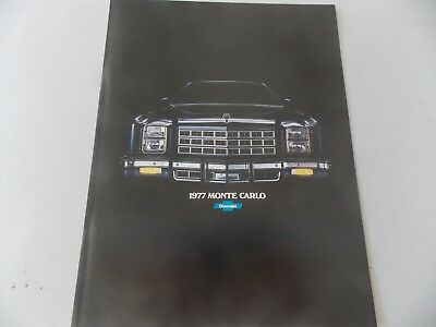1977 Chevrolet Monte Carlo Showroom Brochure 8 1/2 x 11 NEW  Very Nice See Pic