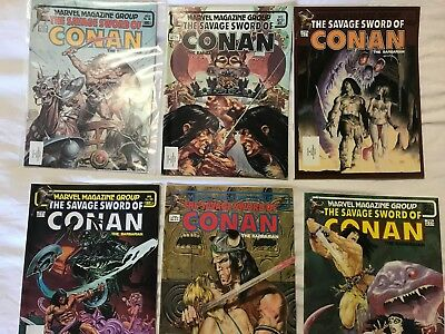 Marvel SAVAGE SWORD OF CONAN the Barbarian 90, 93, 94, 96, 97, 98