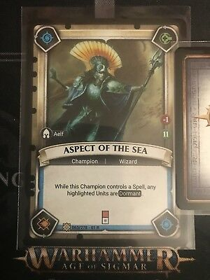 Warhammer champions FOIL Aspect Of The Sea