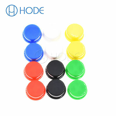 10/100PCS colorful Round Tactile Button Caps For 12×12×7.3mm Tact Switches UK