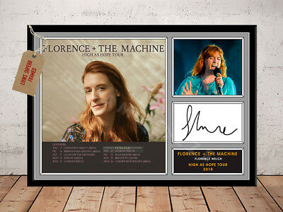 Florence And The Machine High As Hope Tour 2018 Autographed Signed Photo Print