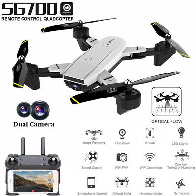 SG700 FPV RC Drone Quadcopter 2.4G 4CH 6-Axis Headless Mode With 2MP HD Camera