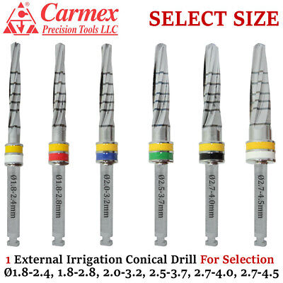 Carmex Dental Implant Conical Drill External Irrigation Surgical Tool Selecton