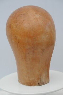 Wooden Millinery Hat Block or Wig Stand in Lovely Condition