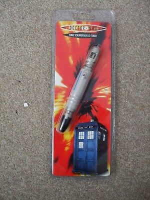 Rare and Hard To Find  New Sealed Doctor Who Sonic Screwdriver LED Torch