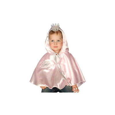 Prinzessin Umhang Fee rosa Mädchen Motto Party Glitzer Cosplay Karneval Fasching