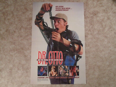 Dr. Otto 1985 Movie Poster Jim Varney Riddle Of Gloom Beam Light Extra Fold