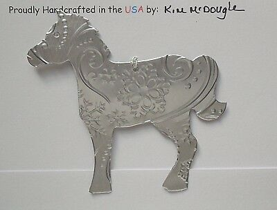 Horse Christmas Tree Ornament Handmade Double Sided Recycled Aluminum Can #2