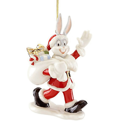 Lenox Bugs Bunny Santa Ornament  New for 2018