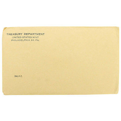 1962 Proof Set Sealed Original Envelope Unopened US Mint 5 Coins