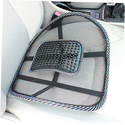 Chair Massage Back Lumbar Support Mesh Ventilate Cushion Pad Car Office Seat G4