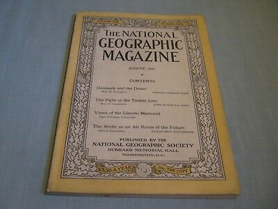 ANTIQUE NATIONAL GEOGRAPHIC August 1922 DENMARK Timber-Line Fight ARCTIC ROUTE