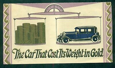 """1915 Saint Paul Mercury Indemnity Co. """"The Car That Cost Its Weight in Gold"""""""