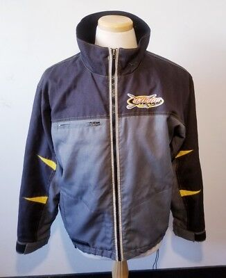 Team X Ski-Doo Bombardier Full Zip Jacket Mens M Black Grey Coat