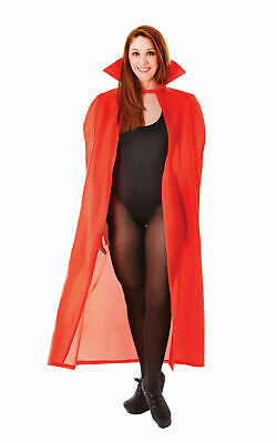 Red Dracula Cape Halloween Fancy Dress Costume  Devil Vampire Goth Vamp