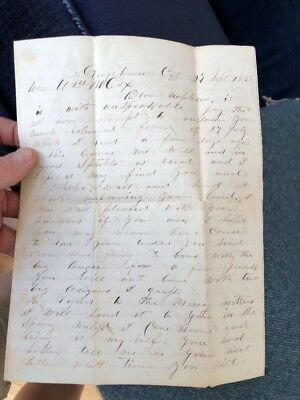 Georgetown California Gold Rush Era Letter 1856 Mentions Ditch Work, Crime +