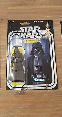 Star Wars vintage DARTH VADER original saber cape Kenner, custom made card