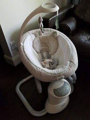Used GRACO EveryWay Soother Swing in Green/Gray Tristan