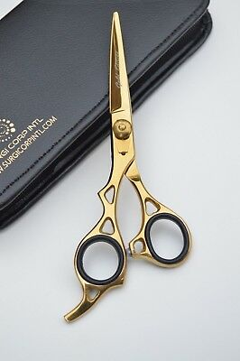 """6"""" Professional Hairdressing Scissors Barber Gold Edition For LEFT HAND PEOPLE"""