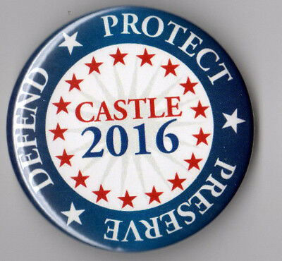 Darrell Castle campaign button pin 2016 Constitution Party 3rd