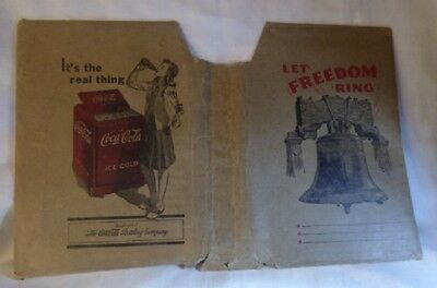 1940 Coca Cola BOOK COVER Let Freedom Ring Liberty Bell It's the Real Thing