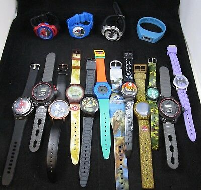Wristwatches Digital Boys Characters Watches Lot of 16 Untested