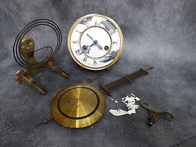 A Complete Gustav Becker Gong Strike Wall Clock Movement With Key * Works,tlc *