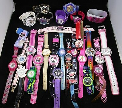 Wristwatches Lot of 29 Girls Character Hello Kitty Untested