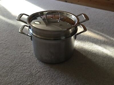 """Le Creuset  3 - Ply Stainless Steel Pasta / Multi Use Pot 24Cm (9.5""""). 7.2L"""