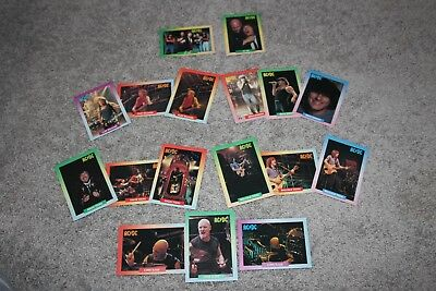 AC/DC - 17 collector cards - complete band set - 1991 Rock Cards