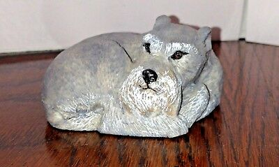 CHARMSTONE Schnauzer Figurine Sculpture by Earl Sherwan for Marv-Art Designs NY