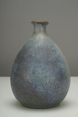 1960s Vintage Jan Helga Grove Art Pottery Vase British Columbia Canada - Blue
