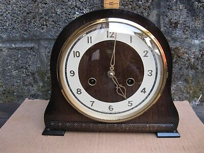 Smiths Chiming Mantle Clock / Excellent Working Order. New Mainsprings Fitted.
