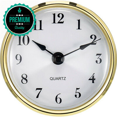 Hicarer 3-1/8 Inch (80 mm) Quartz Clock Fit-up/Insert with Arabic Numeral,...