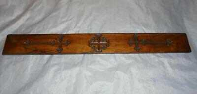 Antique Treen Jerusalem Olivewood Ruler / Bible Reader With Jerusalem Cross