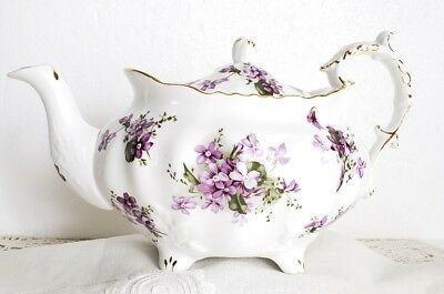 Hammersley England Victorian Violets Teapot Fine Bone China ☆☆☆ No Reserve