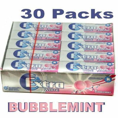New Wrigley's 30 Packets Extra Chewing Gum Bubblemint Sugar Free Packs £13.25