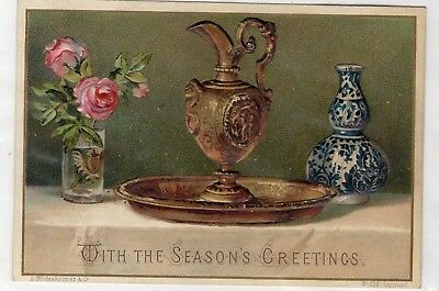 1800's Victorian Card - With The Seasons Greeting - Selling Lot Of Cards