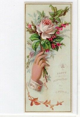 1800's Victorian Card - A Happy Birthday To You - Greeting- Selling Lot Of Cards